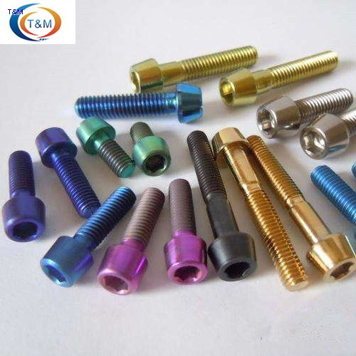 anodized titanium bolts for bicycle